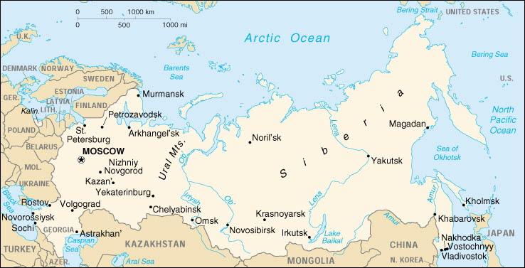Uralgebirge Karte.Russland Cyrellics